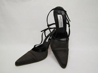 Jimmy Choo Satin Sling Back Shoes