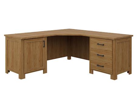 Teton L-Shaped Desk in Classical Maple
