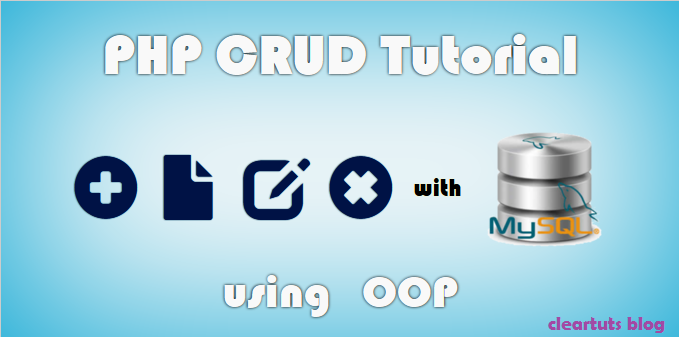 CRUD Operations using PHP OOP and MySQL