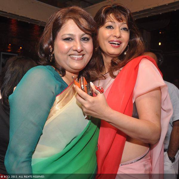 Vani Tripathi with Sunanda Tharoor during her birthday bash, held in Delhi.
