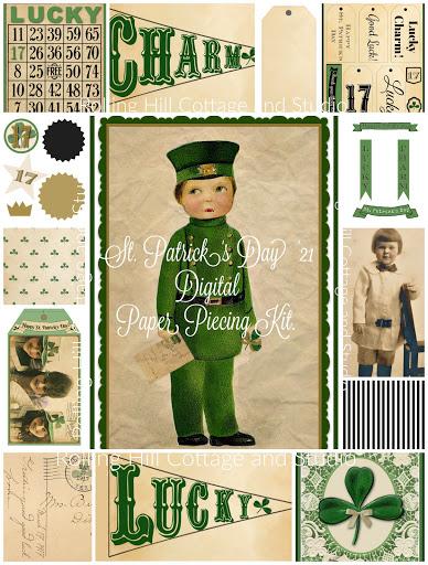 St. Patrick's Day '21 Digital Paper Piecing Kit