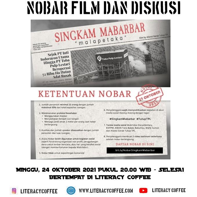 NONTON BARENG DAN DISKUSI FILM SINGKAM MABARBAR