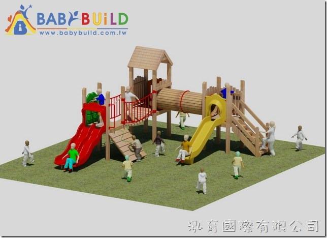 BabyBuild 木頭遊戲設施
