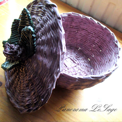 decoupage wiklina papierowa koszyk wazon patera filiżanka spodek róże kwiaty dekoracje dekoracja shabby chic owoce prezenty pomysły pomysł mieszkanie wnętrze Panorama LeSage