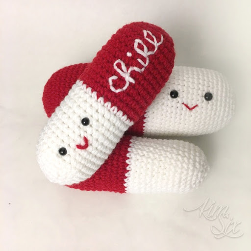 photograph regarding Chill Pill Free Printable named Crocheted Chill Tablets Amigurumi Behavior - The Kim 6 Maintenance