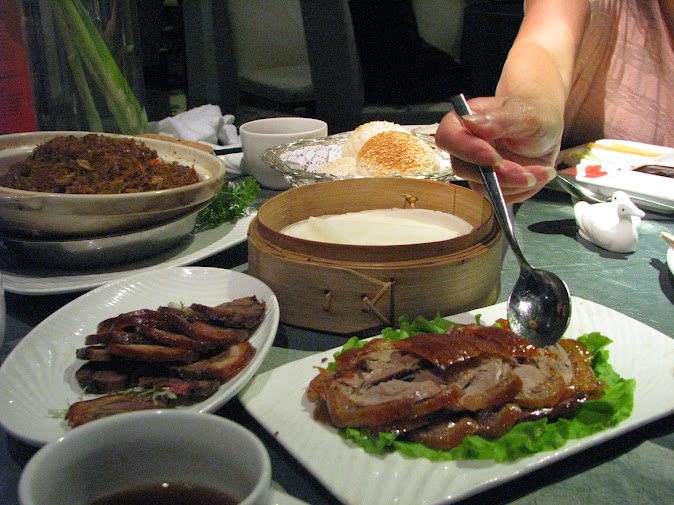 Our dinner of Peking Duck at Dadong Restaurant (2012)