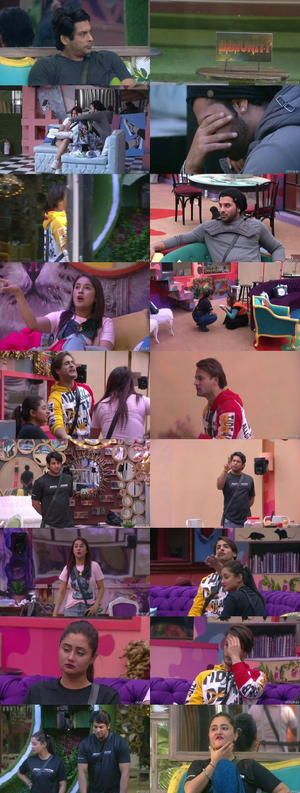 Screenshots Of Hindi Show Bigg Boss 13 8th February 2020 Episode 131 300MB 480P HD