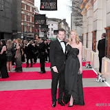 WWW.ENTSIMAGES.COM -   Rafe Spall and Elize du Toit   at      The Olivier Awards at Royal Opera House, Covent Garden, London, April 28th 2013                                               Photo Mobis Photos/OIC 0203 174 1069