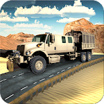 Offroad Army Checkpost Truck Icon