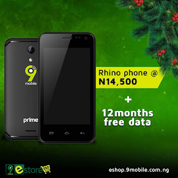 Enjoy Free 12 Months Data When You Buy 9Mobile Rhino 2 Smartphone