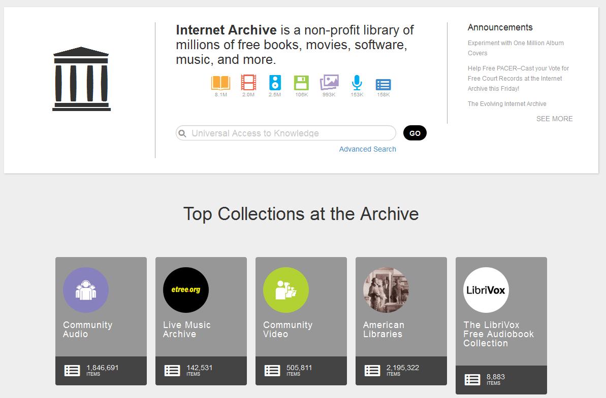 Archive.org (Internet Arşivi)