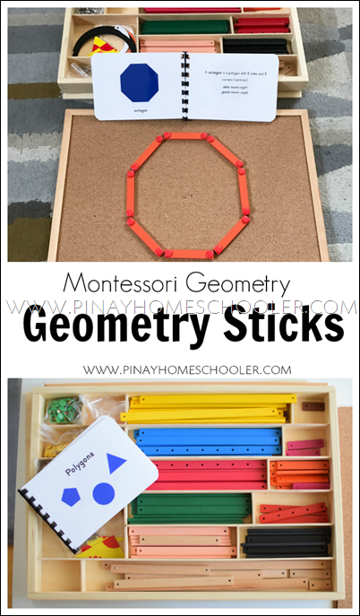 Montessori Geometric Sticks for Learning Polygons and Angles