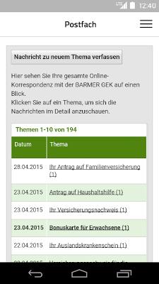 BARMER GEK Service - screenshot