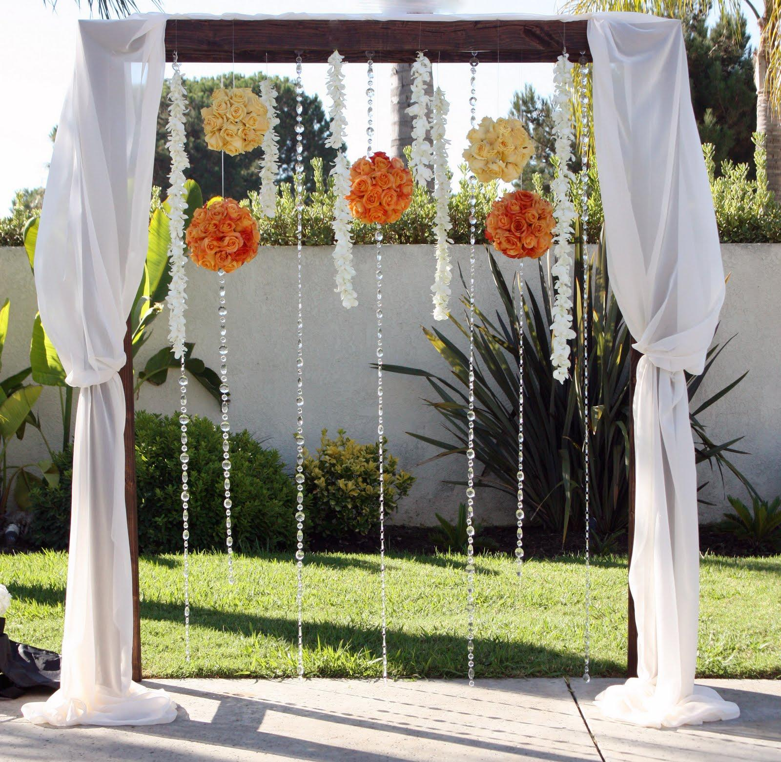 Katherinn's Blog: Decorated Fabric Wedding Arbor