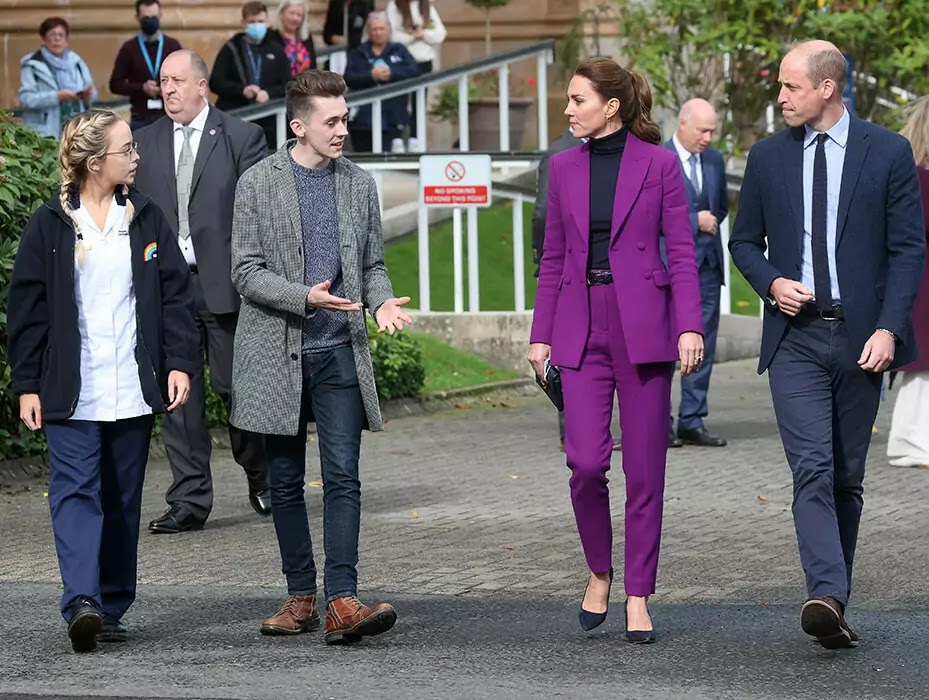 Prince William and Kate Middleton meet students in Northern Ireland after Red Carpet Appearance