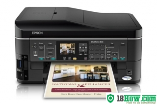 How to reset flashing lights for Epson WorkForce 633 printer