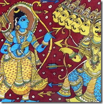 [Rama fighting Ravana]