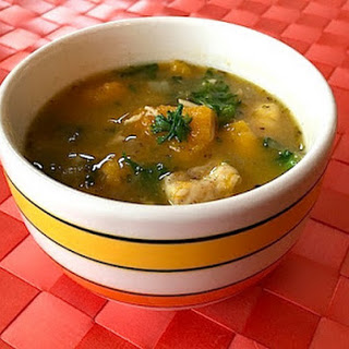 Butternut-Squash and Kale Chicken Soup