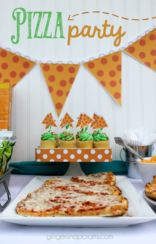 Pizza Party Ideas & Printables at GingerSnapCrafts.com_thumb[3]
