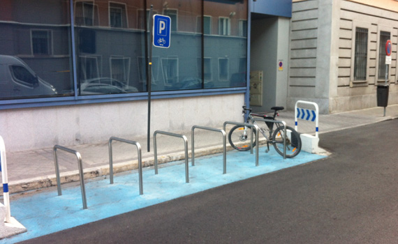 ¿Dónde pondrías un aparcabicis?