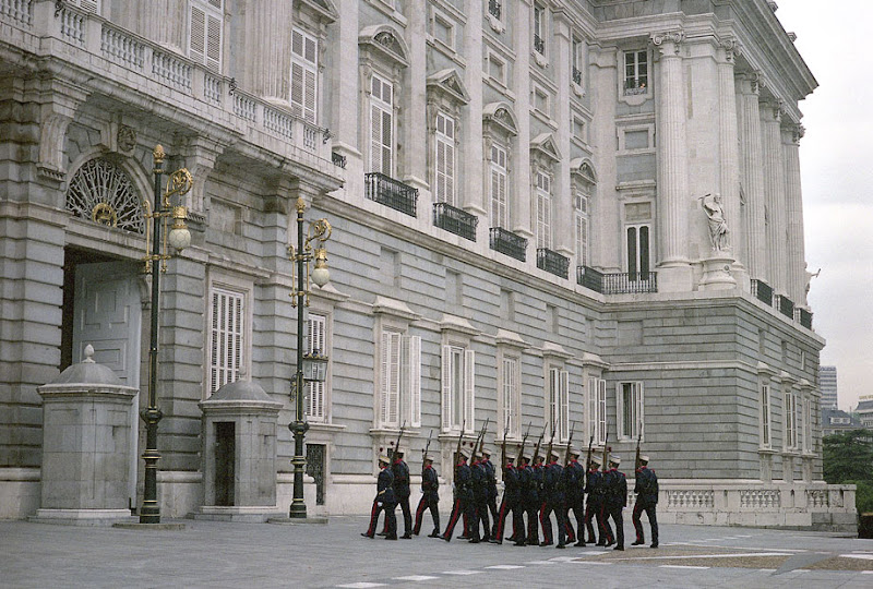 Changing of the Guard. Royal Palace of Madrid