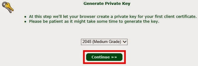 Gerar chave