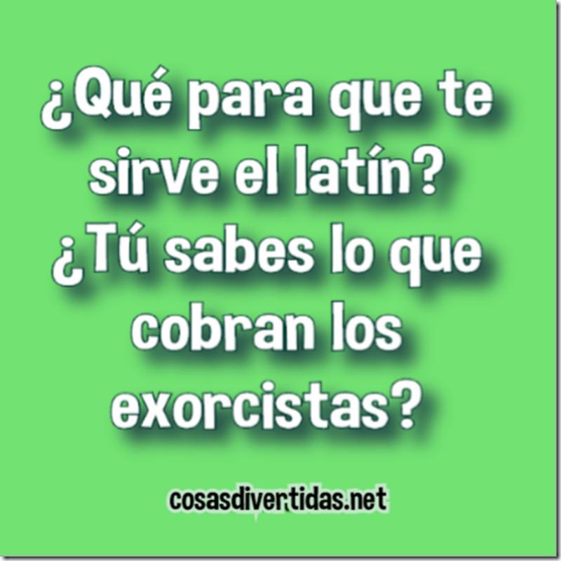 Chistes cortos El latín sirve