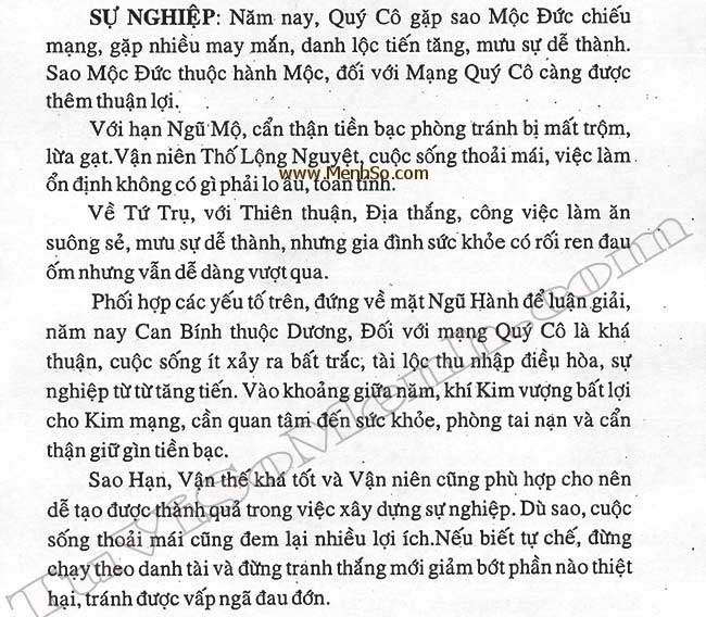 Xem tử vi 2016 tuổi Đinh Mão nữ mạng
