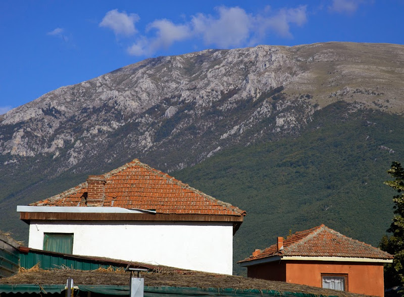 37. Roofs and Mountains. Lake Ohrid