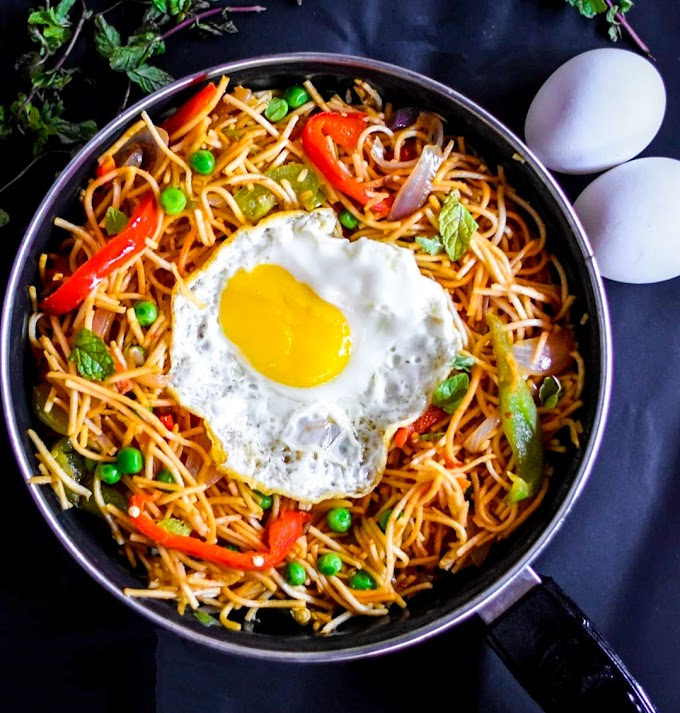 Noodles With Fried Eggs Recipe | Breakfast Care
