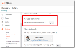 Enabling Google  Commenting System in Blogger2