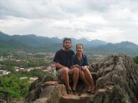 Hiking up Chomsy Hill - Luang Prabang
