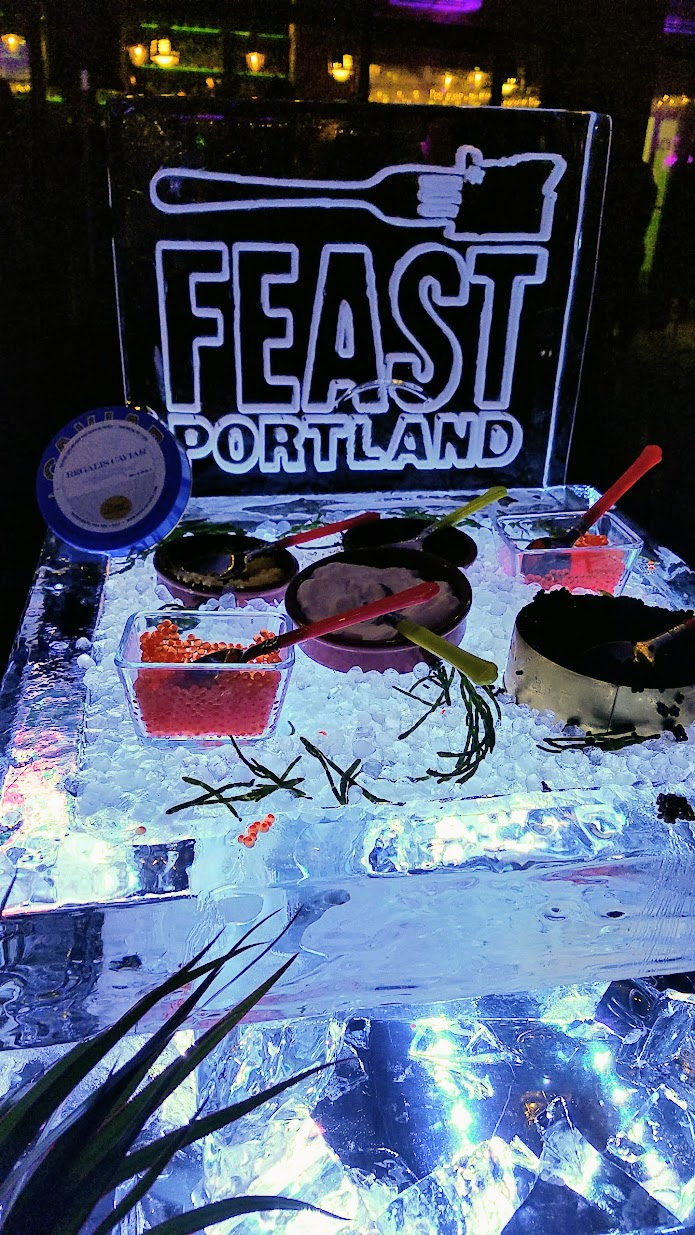 My Highlights of Feast 2017 - Portland Monthly's Ham and Eggs Party at Bar Casa Vale with 1980s excess including Caviar and Jamon by Regalis Foods