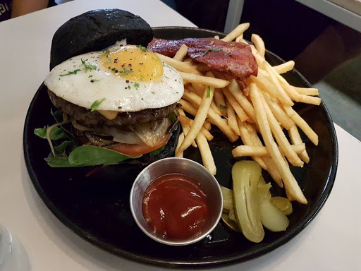 Beef burger from Botanist at Outram Park