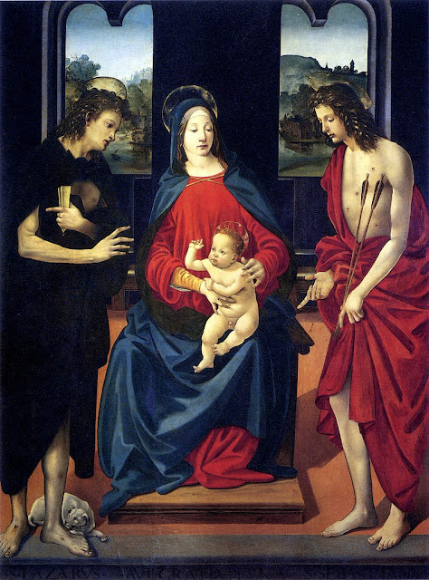 Piero di Cosimo - Madonna and Child with Saints Lazarus and Sebastian