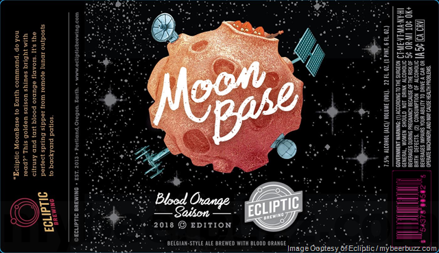 Ecliptic Brewing Moon Base Blood Orange Saison Coming In April