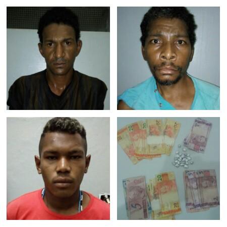 PM prende três em Cajobi por tráfico de drogas