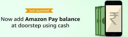 Amazon - Get 100% Cashback on Loading Cash to AmazonPay at Doorstep