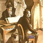 Gesellschaftsspiel der Schubertianer in Atzenbrugg - Leopold Kupelwieser
