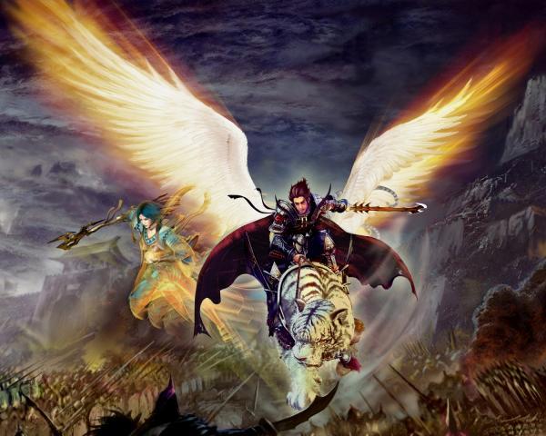 Fire Angel On Tiger, Spirit Companion 1