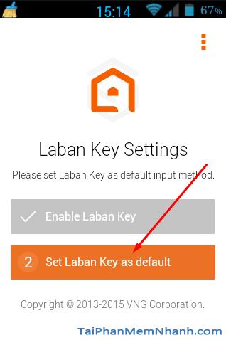Đặt laban key làm mặc định