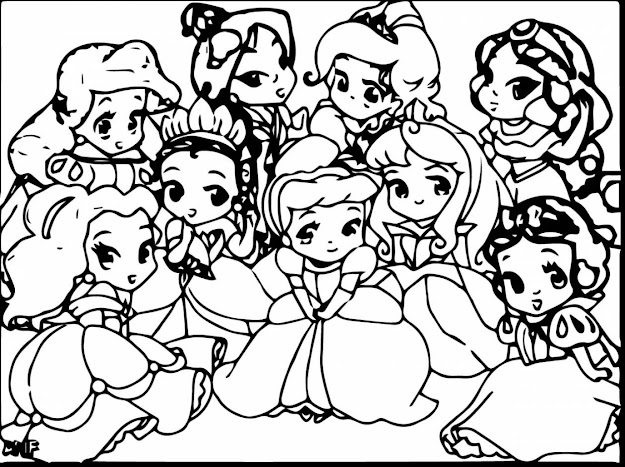 Excellent Baby Disney Princess Coloring Pages With Cute Disney Coloring  Pages