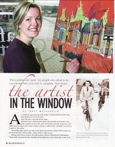 "2006 ""Beyond the City"" Magazine article about Newfoundland Artist Keli-Ann Pye-Beshara"