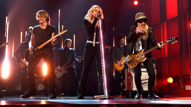 Keith Urban, ML and Billy Gibbons ACMs 2016