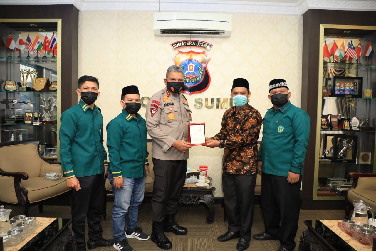 Kapolda Sumut Silaturahmi Dengan Ikatan Pelajar Al-Washliyah Sumut