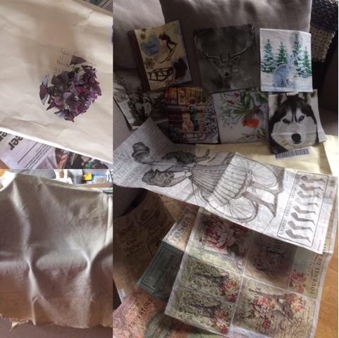 Decouperen met servetten en rijstpapier