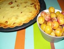 Tarte aux mirabelles et au fromage blanc