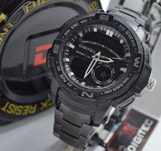 jam tangan Digitec 2014T triple cencor speedo full black