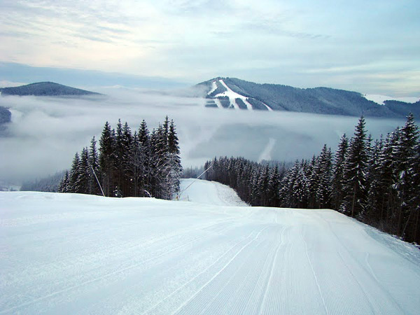 Slopes of Bukovel ski resort