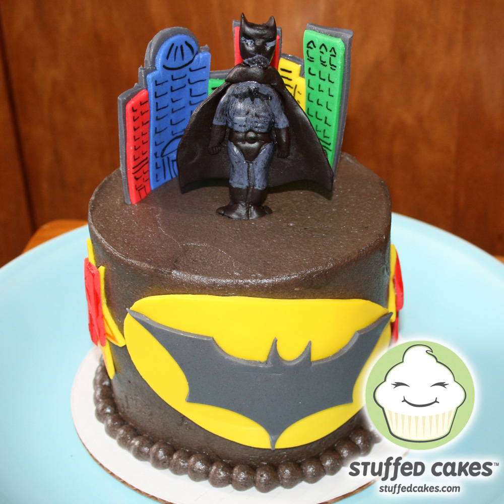 Stuffed Cakes Holy Cool Cake Batman